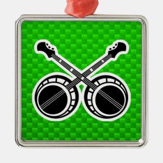 Green Dueling Banjos Christmas Ornament