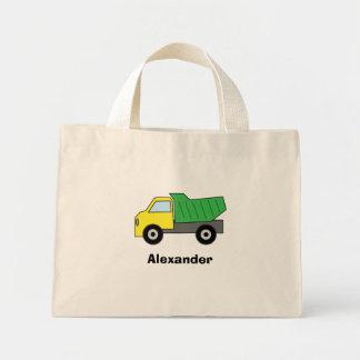 Green Dump Truck Personalized Mini Tote Bag
