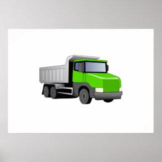 Green Dump Truck Poster