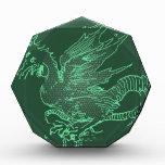 Green Durer Dragon Acrylic Award