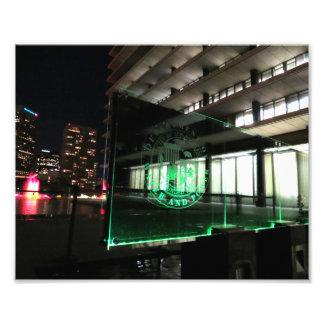 Green DWP Sign Photograph