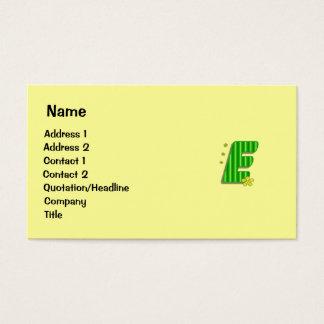 green E monogram Business Card