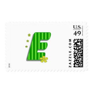 Green E monogram Postage