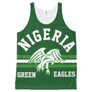 Green Eagles Nigeria All-Over Print Tank Top