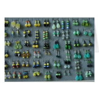 Green Earrings Card