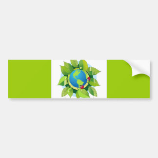 Green_Earth (2) Car Bumper Sticker