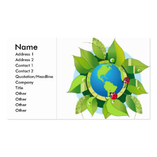 Green_Earth (2), Name, Address 1, Address 2, Co... Double-Sided Standard Business Cards (Pack Of 100)
