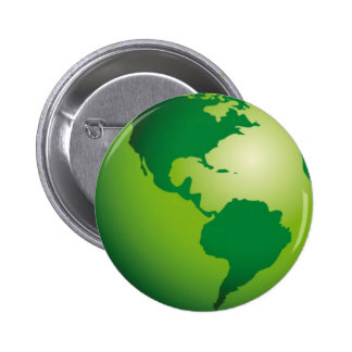 Green_Earth (3) Pinback Button