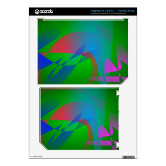 Green Earth Abstract Art Nintendo Wii Decal