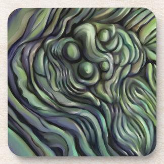 """Green Earth"" abstract coaster"