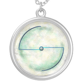 Green Earth Atom Round Pendant Necklace