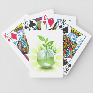 Green Earth Bicycle Playing Cards