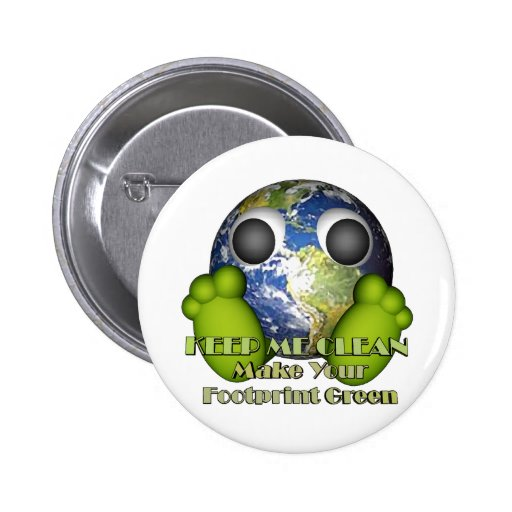 Green Earth Clean Earth Buttons