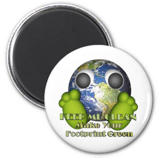 Green Earth Clean Earth Refrigerator Magnet