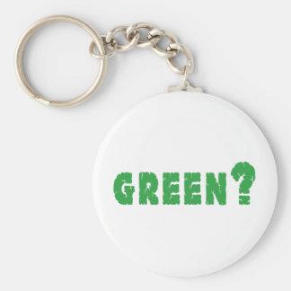 GREEN? Earth Day Basic Round Button Keychain