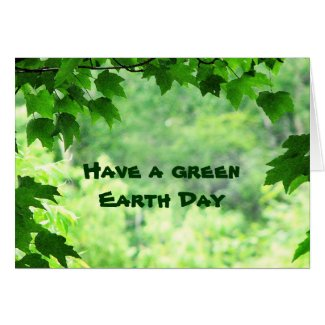 Green Earth Day Greeting Cards