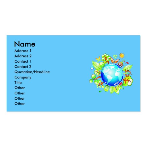 Green Earth Eco Friendly Business Card