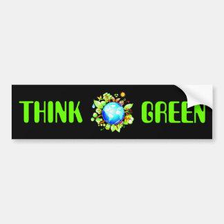 Green Earth Eco Friendly for Earth Day Bumper Sticker