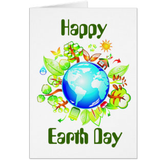 Green Earth Eco Friendly for Earth Day Card