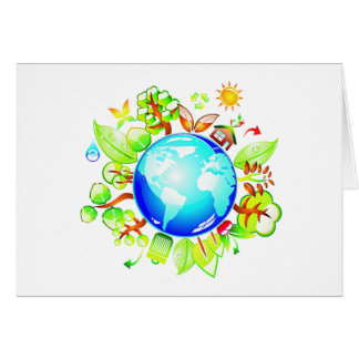 Green Earth Eco Friendly for Earth Day Cards