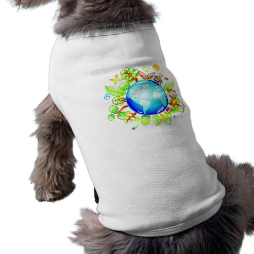 Green Earth Eco Friendly for Earth Day Dog Tee