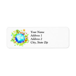 Green Earth Eco Friendly for Earth Day Label