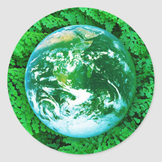 Green Earth - ecological awareness Classic Round Sticker