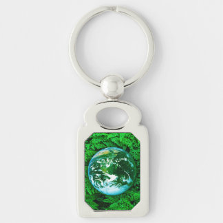 Green Earth - ecological awareness Keychain