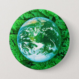 Green Earth - ecological awareness Pinback Button