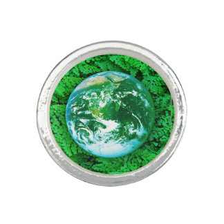 Green Earth - ecological awareness Photo Rings