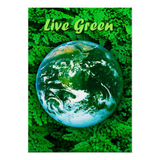 Green Earth - ecological awareness Poster
