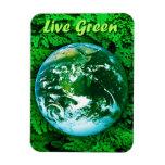 Green Earth - ecological awareness Rectangular Photo Magnet
