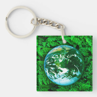 Green Earth - ecological awareness Single-Sided Square Acrylic Keychain