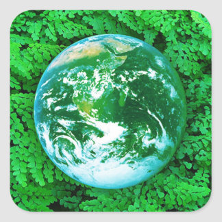 Green Earth - ecological awareness Square Sticker