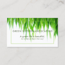 Green Earth Friendly Landscaping Business Card