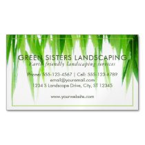 Green Earth Friendly Landscaping Business Card Magnet
