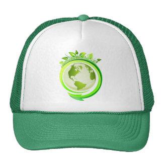 Green earth hat