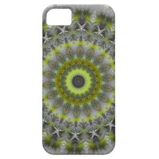 Green Earth Mandala Kaleidoscope pattern iPhone 5 Cases