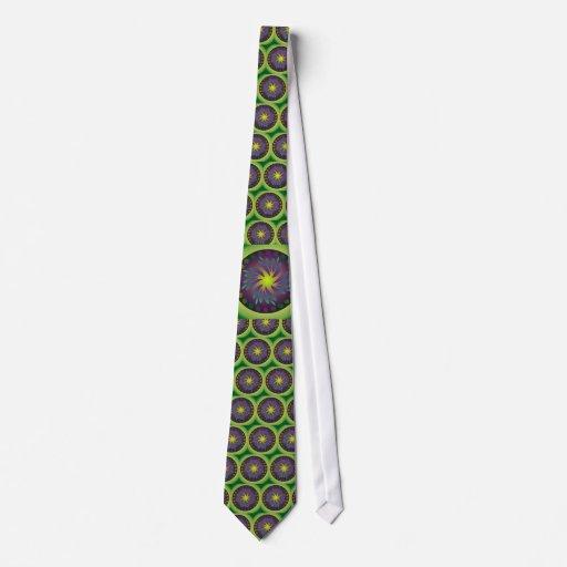 Green Earth Mandala Neck Tie