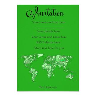 Green earth map card