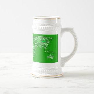 Green earth map mugs