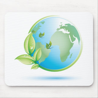 Green Earth Mouse Pad
