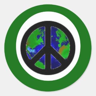 Green Earth Peace Classic Round Sticker