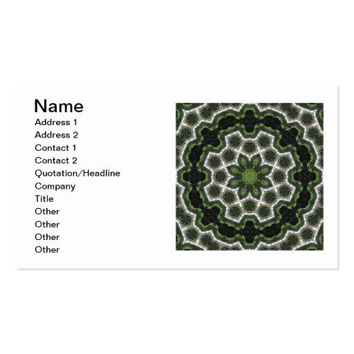 Green Earth Photo Mandala Business Card Template