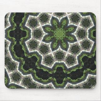 Green Earth Photo Mandala Mouse Pad