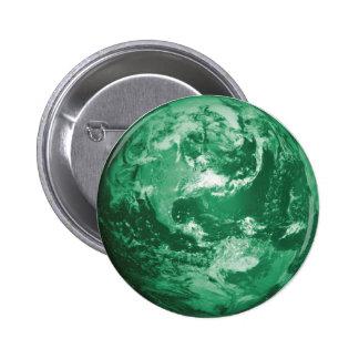 green earth pinback button
