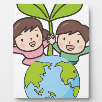 Green Earth Plaque