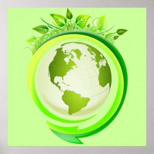 Green earth poster | Zazzle