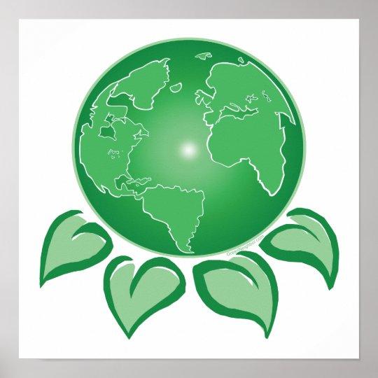 Green Earth Poster Zazzle Com