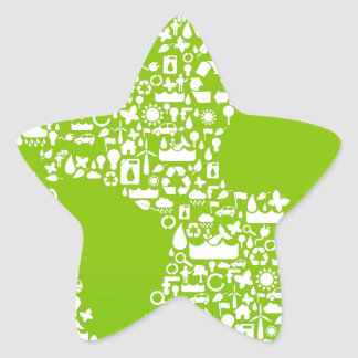 Green Earth / Recycle Star Sticker